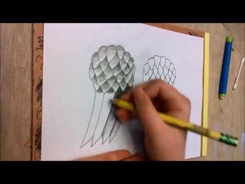 The Walking Dead Daryl's Angel Wings Drawing Tutorial