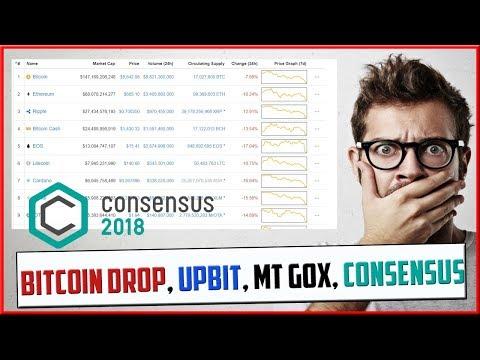 Bitcoin Price Fall, Mt Gox Selling Again, Upbit Raid, Consensus 2018