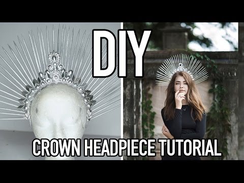 TUTORIAL: HOW TO MAKE A DIY CROWN HEADPIECE USING NECKLACES | FOR FASHION PHOTOGRAPHY ON A BUDGET