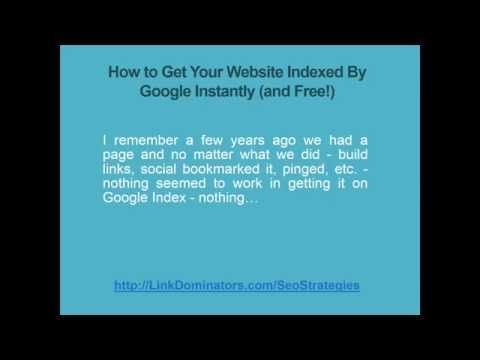 How to Get Your Website Indexed By Google Instantly (and Free!) | 2 Steps To Get Your Site Indexed