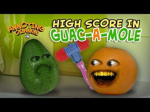 Annoying Orange - High Score in Guac-a-Mole!