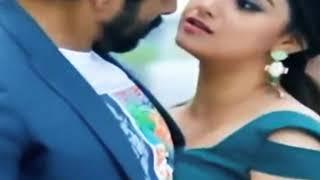 Actress keerthi Suresh boob press  lip press
