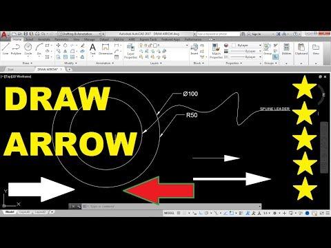 How to draw Arrow in AutoCAD 2017 using Spline Leader