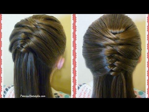 Easy Fishtail Braid Hack! Snap Braid Half Up Hair Tutorial