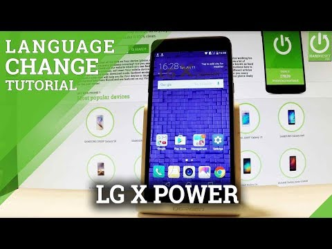 How to Change Language in LG X Power - Language Settings