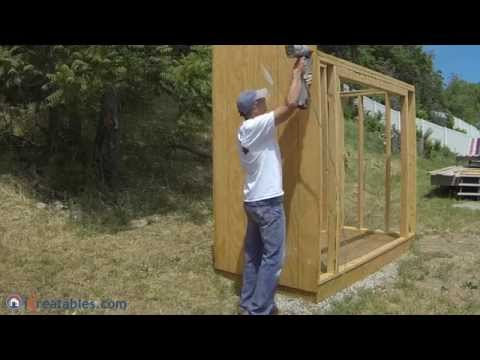 How To Build A Lean To Shed - Part 3 - Siding Install