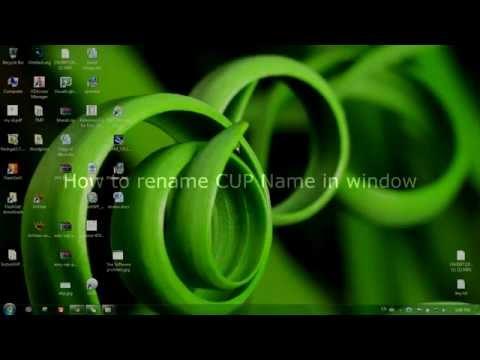 Change CPU Name in Window