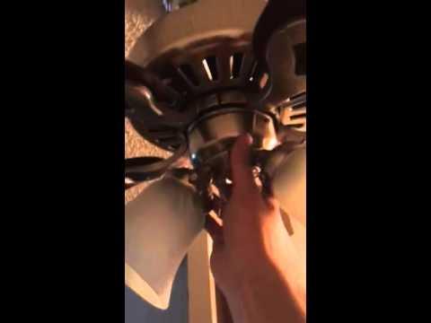 All ceiling fan bulbs blew fix! Hunter ridgefield fan