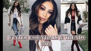 WINTER FASHION WARDROBE ESSENTIALS & TRENDS 2017-2018: AFFORDABLE TRENDS TO FOLLOW