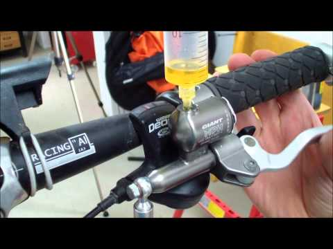 How to replace the brake fluid in hydraulic bicycle disc brakes. (Tutorial 002)