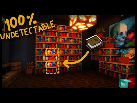 The SECRET 100% UNDETECTABLE Minecraft Library Entrance! (redstone tutorial)