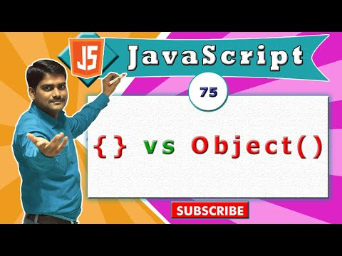 JavaScript tutorial 92 - { } vs new Object() | Object literal vs Object constructor