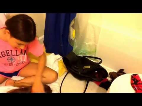 How to wash and recurl Kanani's hair ( using ag brand curlers)