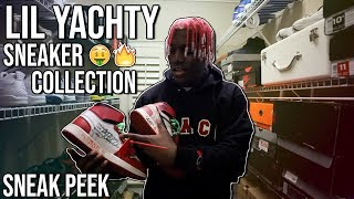 Lil Yachty Gives us a Sneak Peek at his Sneaker Closet