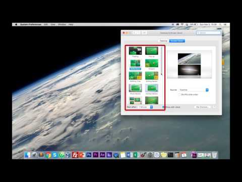 How to Set Screen Saver and Set Time Interval Macbook - Mac OS X