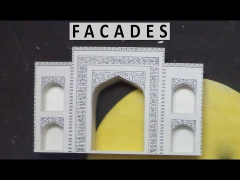 FACADES | How to make a model of Taj Mahal | Architecture Model Making