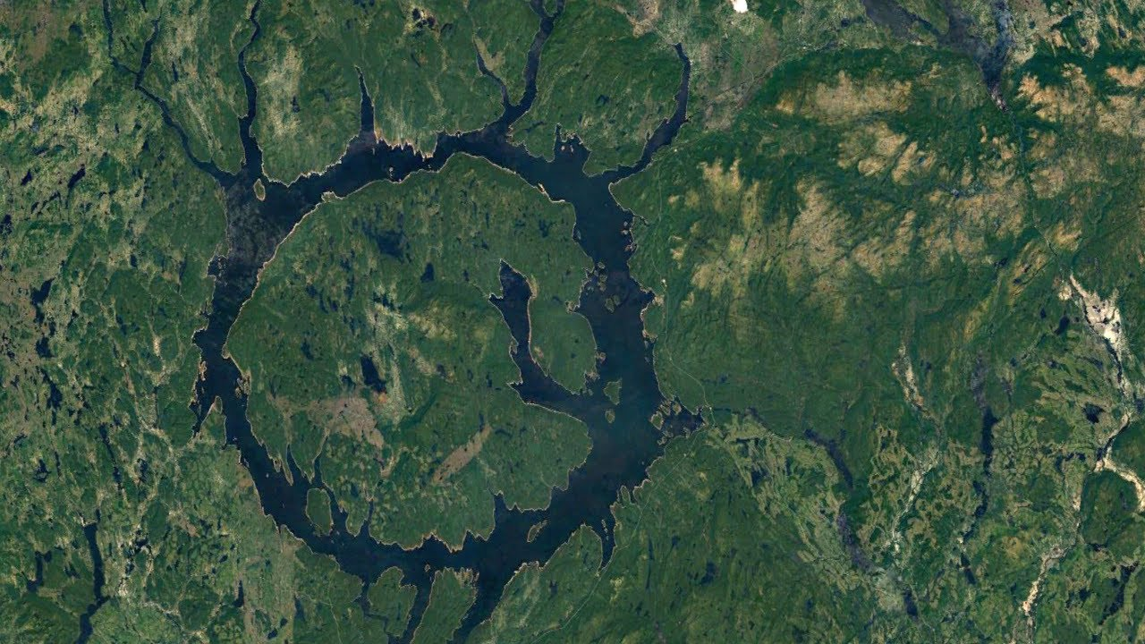 The Impact Crater in Canada; Manicouagan Reservoir