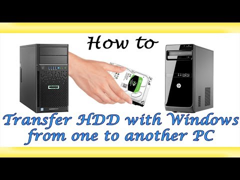 Shift any Hard Drive incl. Windows & all Data + Files to another PC ◄◄ 4K Video ►►