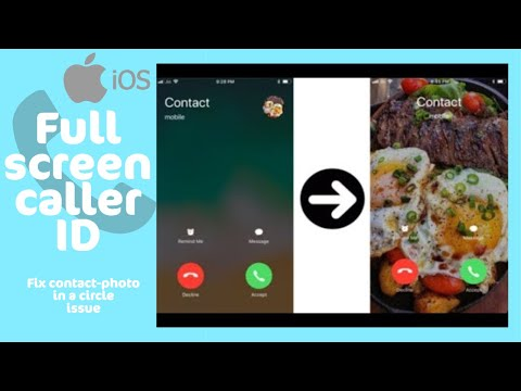 Get full screen contact photo in iPhone for incoming calls