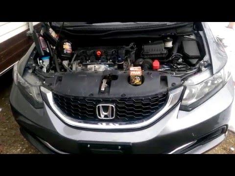 Honda CIVIC  2014 oil /filter change-CORRECT way