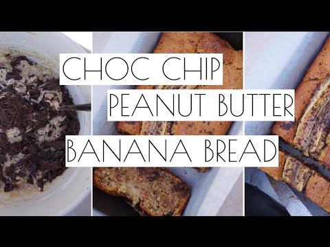 CHOC CHIP PEANUT BUTTER BANANA BREAD   VEGAN & DELICIOUS