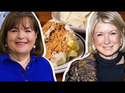 Ina Garten Vs. Martha Stewart: Whose Carrot Cake Reigns Supreme? | Celebrity Snackdown | Delish