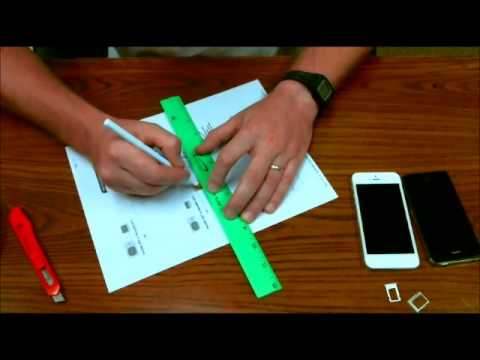 How to Cut Micro Sim Card to fit a Nano Sim Card Size for iPhone 5