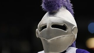 Holy Cross Mascot Video Bombs Announcers