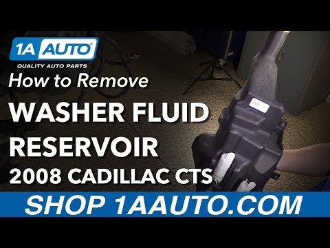 How to Remove Replace Washer Fluid Reservoir 2008 Cadillac CTS