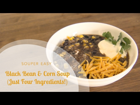 Easy Black Bean and Corn Soup (Just 4 Ingredients!)
