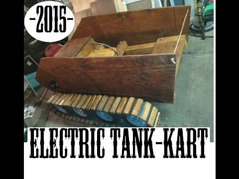 Electric Wood Tank Go-Kart Timelapse build