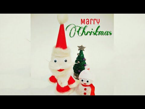 DIY | How to make Santa Claus |Christmas Special |Easy Santa Claus | Bharti's Creative Art and Craft