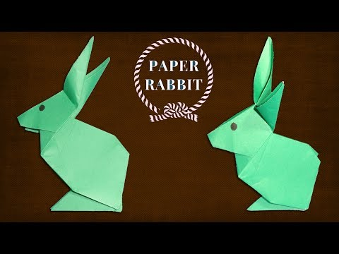 How To Make a Paper Rabbit (Bunny) - Easy Origami Animal Making.