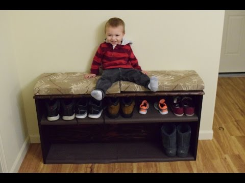 Entry bench with shoe storage DIY with Chris Alaska Edition