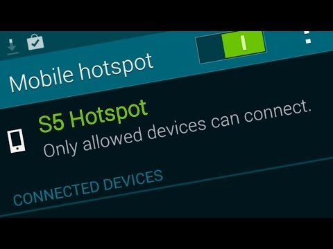 How to use the S5 as a Hotspot / Setup