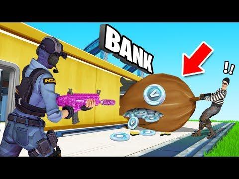 COPS vs ROBBERS Gamemode in Fortnite Creative! (Stole