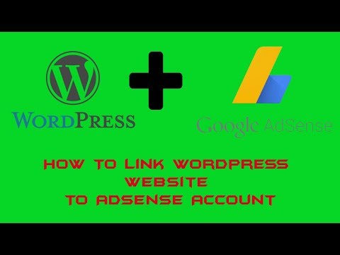 How To Link Your Wordpress Website To Adsense Account.