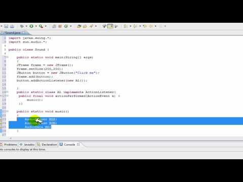 Java Tutorial - Add music/sound to java program: background music help