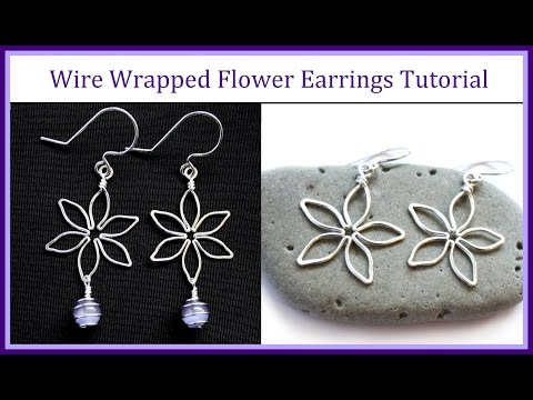 Easy Wire Wrapped Jewelry Tutorial : Flower Earrings