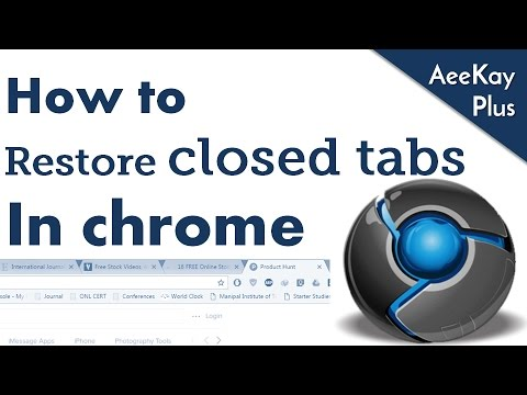 How to restore closed tabs in your browser | Browsertips#2