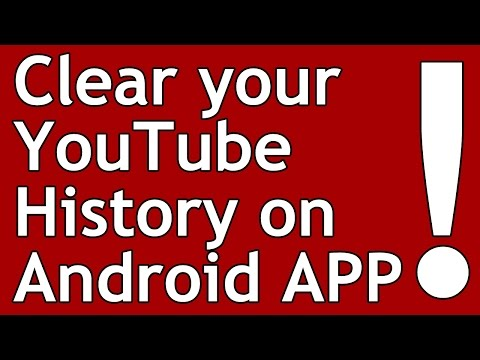 How to clear YouTube history on Android