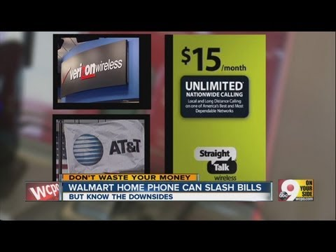 Walmart home phone can slash costs