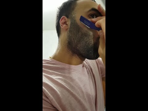 DIY Beard Shape Up Tutorial using Exposed Straight Razor Holder by Clarity Razor