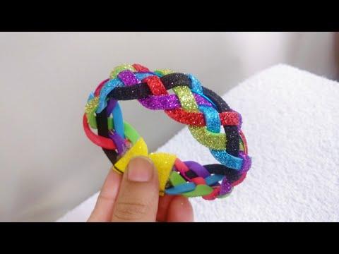 DIY MultiColored Foam sheet Bracelet - No Sew | How to make Bracelet