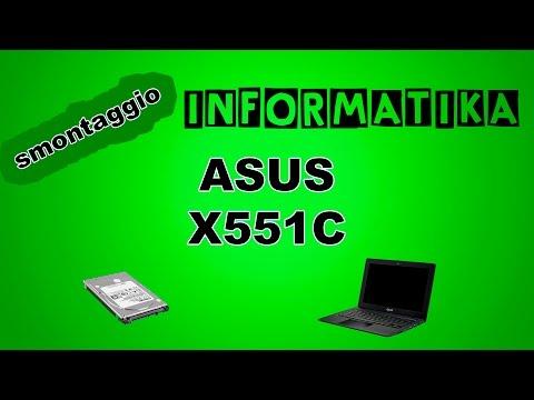 Notebook ASUS X551C smontaggio, sostituzione hard disk, montaggio | Disassembly