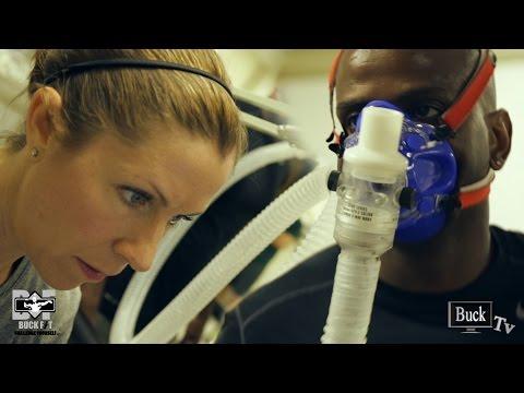 Juliana Marino Demonstrating Treadmill VO2 Max Testing With Marshall Miles On Buck Tv