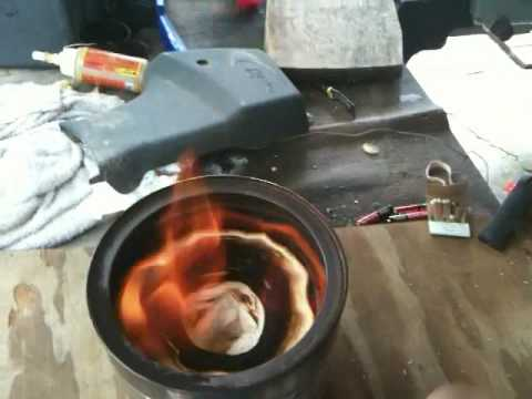 coffee can heater burn time test