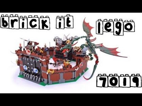 Brick It - Lego Vikings 7019 Viking Fortress against the Fafnir Dragon