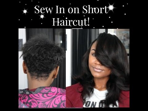 Sew In on Short Haircut!