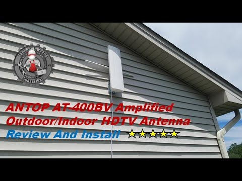 ANTOP AT-400BV Antenna Review And Install (FREE TV!)